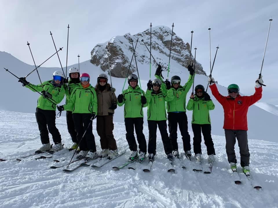 Foto di gruppo ad Adelboden febbraio 2019